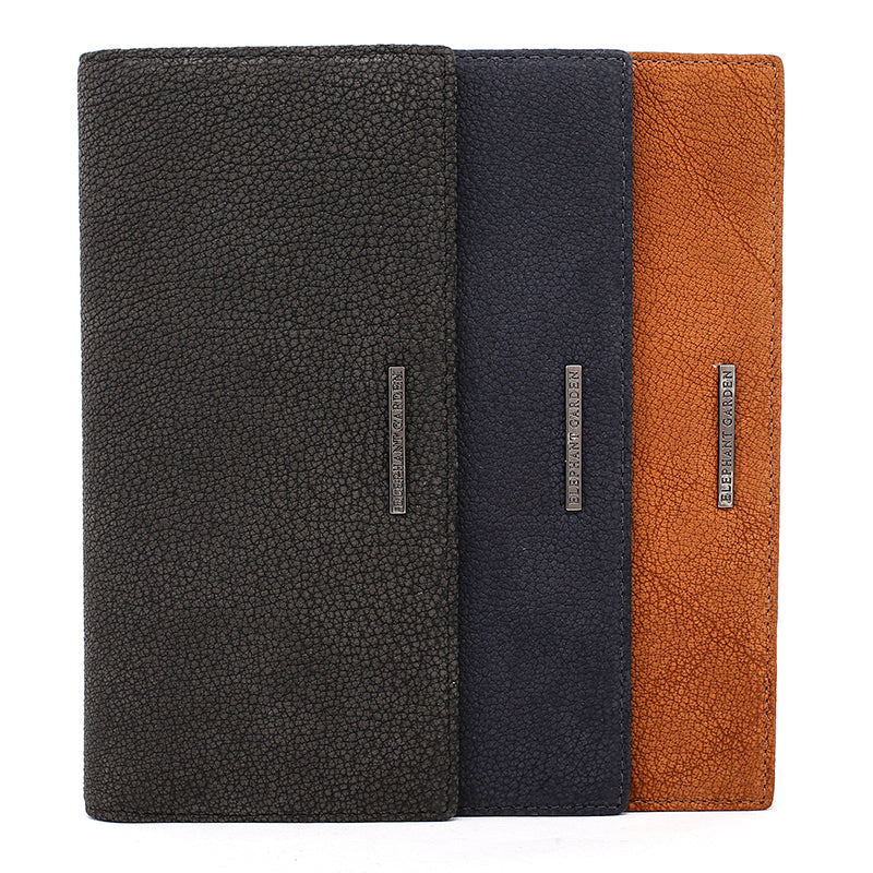 Elephant Garden Men's Leather Zip Around Wallet - W10419