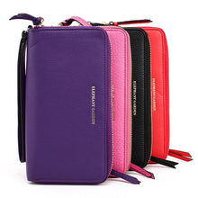 Load image into Gallery viewer, Women's Colorful  Continental Large Zip Wallet W10518