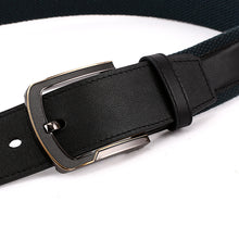 Load image into Gallery viewer, Elephant Garden Men's Fabric Casual Belt with Leather Inlay-B7206 B7207