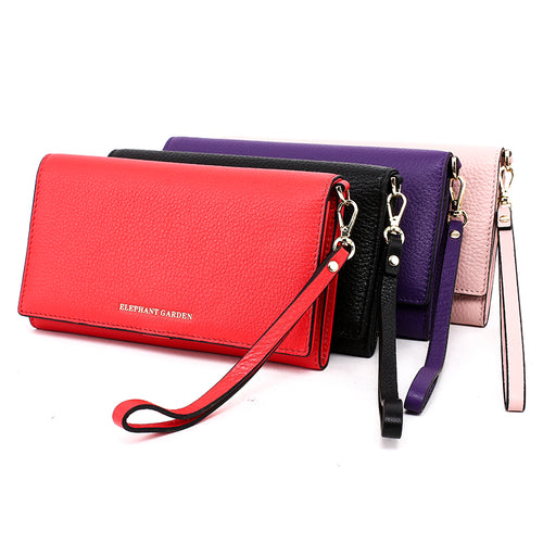 Women's Large Flat Multifunction Wallet-Multi-color W10516