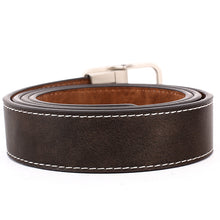 Load image into Gallery viewer, Men's Reversible Belt with Metal Buckle-Coffee-B7202