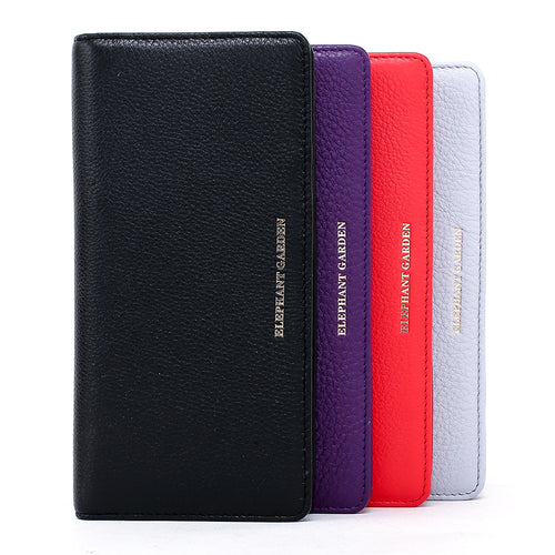 women's Large Flat Multifunction Wallet-Multi-color W10517