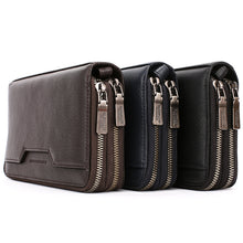 Load image into Gallery viewer, Elephant Garden Men's Leather Zip Around Wallet - C77020