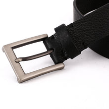Load image into Gallery viewer, Elephant Garden Men's Litchi  Grain Leather Business Belt With Gift Box -Black-B7029