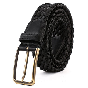 Elephant Garden Men's Braided Leather Belt with Simple Gift Box -B7204 B7205