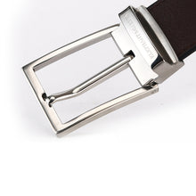 Load image into Gallery viewer, Elephant Garden Men's Smooth Leather Belt with Steel Logo Buckle-B7927
