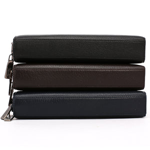 Elephant Garden Men's Leather Zip Around Wallet - C77020