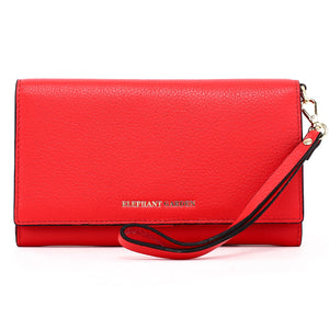 Elephant Garden Women's Large Flat Multifunction Wallet-Multi-color W10516