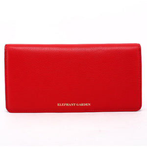 Elephant Garden women's Large Flat Multifunction Wallet-Multi-color W10517