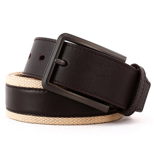 Elephant Garden Men's Fabric Casual Belt with Leather Inlay-B7206 B7207