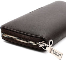 Load image into Gallery viewer, Elephant Garden Men's Smooth Leather Zip-Around Wallet W75217