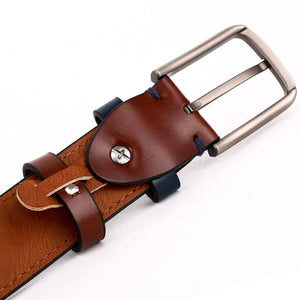Elephant Garden Men's Smooth Leather Dress Belt - B7201