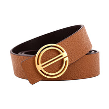 Load image into Gallery viewer, Elephant Garden Women's leather Belt With Golden E Buckle - four colors -B7227