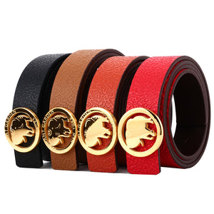 Elephant Garden Women's leather Belt With Golden Elephant Logo Buckle - four colors -B7228