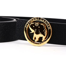 Load image into Gallery viewer, Elephant Garden Women's leather Belt With Golden Elephant Logo Buckle - four colors -B7228