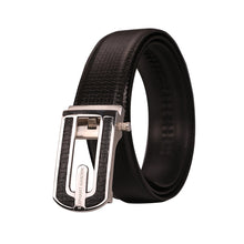 Load image into Gallery viewer, Elephant Garden Men's Solid Buckle with Automatic Ratchet Leather Belt - B7501