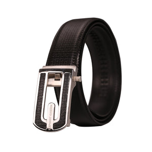 Elephant Garden Men's Solid Buckle with Automatic Ratchet Leather Belt - B7501