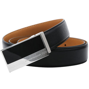 Elephant Garden Men's Edge Stitch Leather Belt - B7503