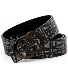 Load image into Gallery viewer, 2020 New Style Men's Leather Belt with EG Buckle Black/Brown B9820