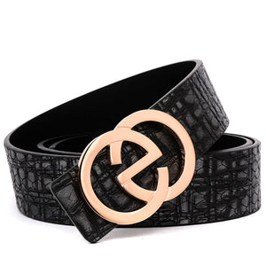 2020 New Style Men's Leather Belt with EG Buckle Black/Brown B9820