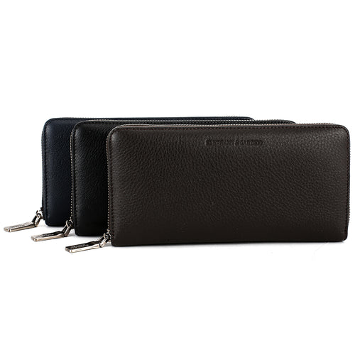 Elephant Garden Men's Leather Zip Around Wallet - C77019