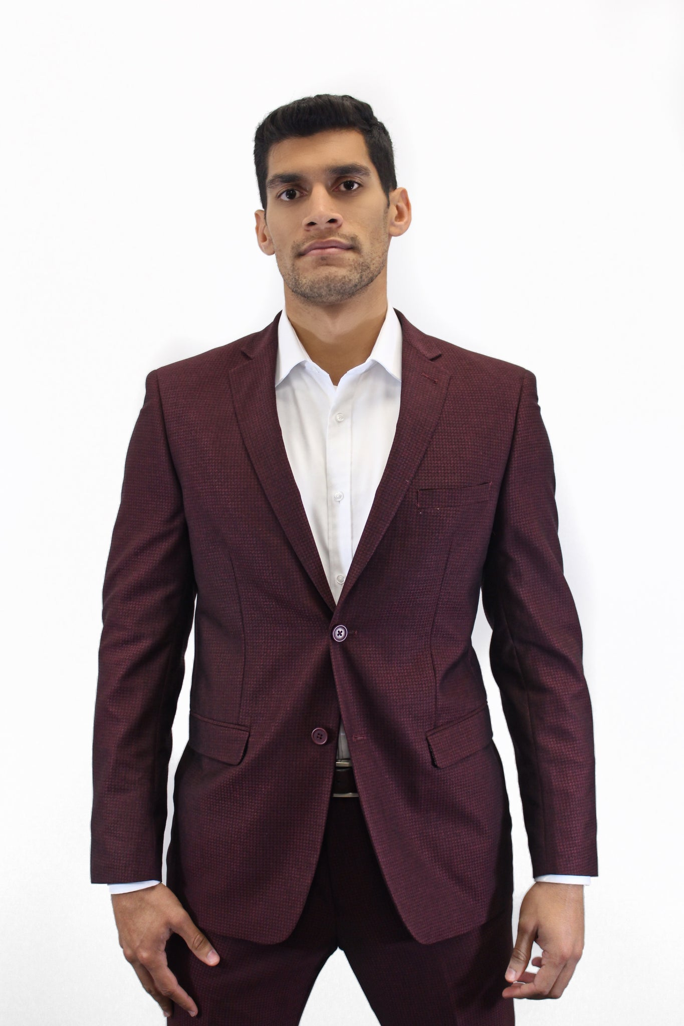 P&L Burgundy Suit