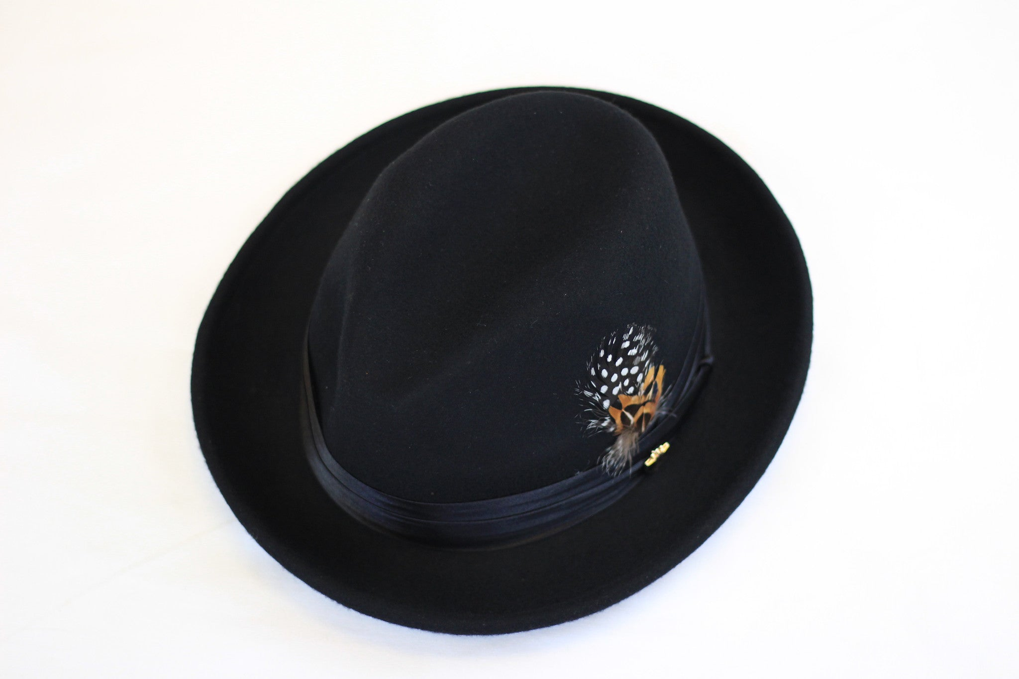 Short Black Brim Hat