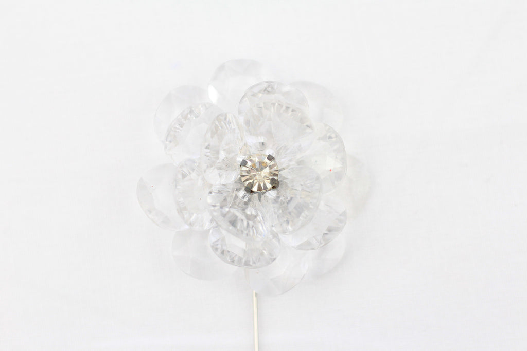 Clear Crystal Flower Pin