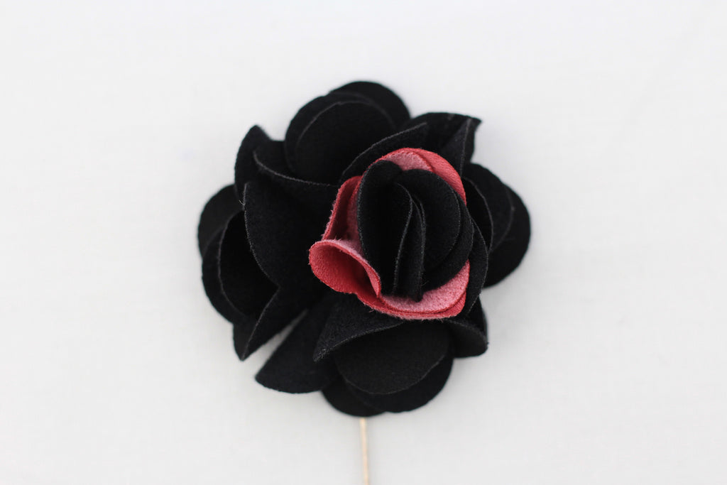 Black|Pink Flower Pin
