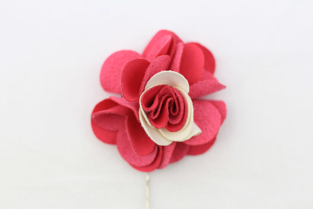 Pink|White Flower Pin