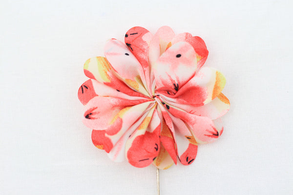 Pink Floral Flower Pin