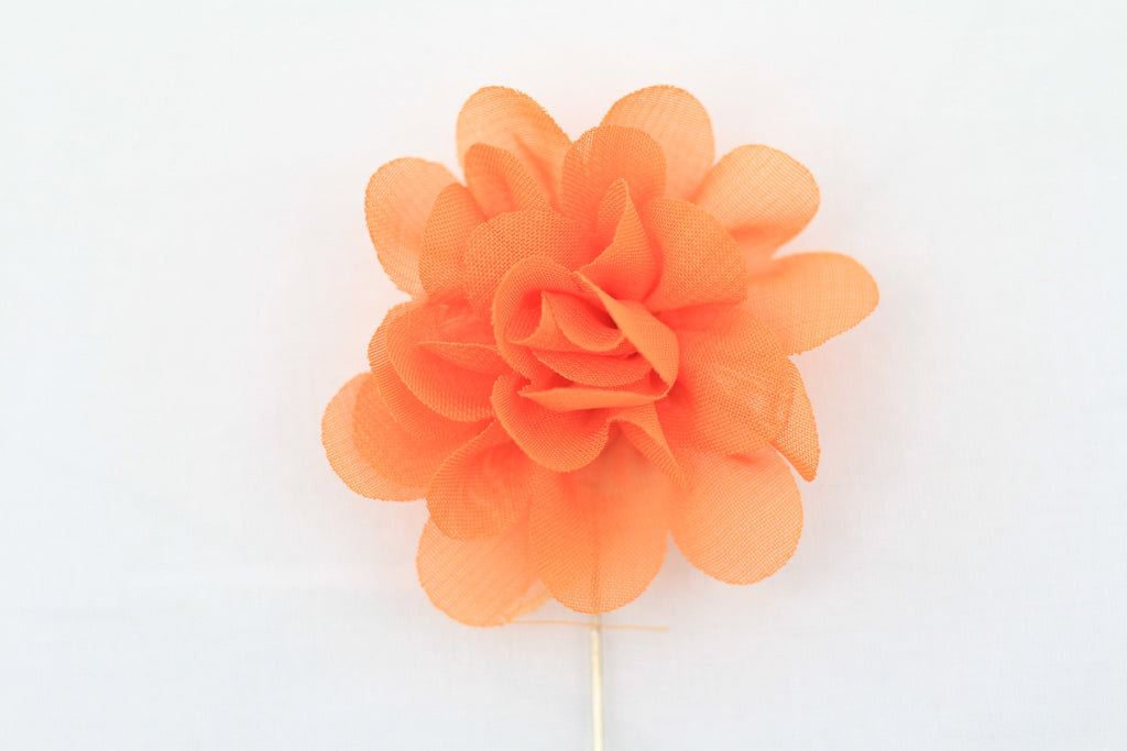 Tangerine Flower Pin