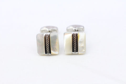 Pearl-White Cuff Links
