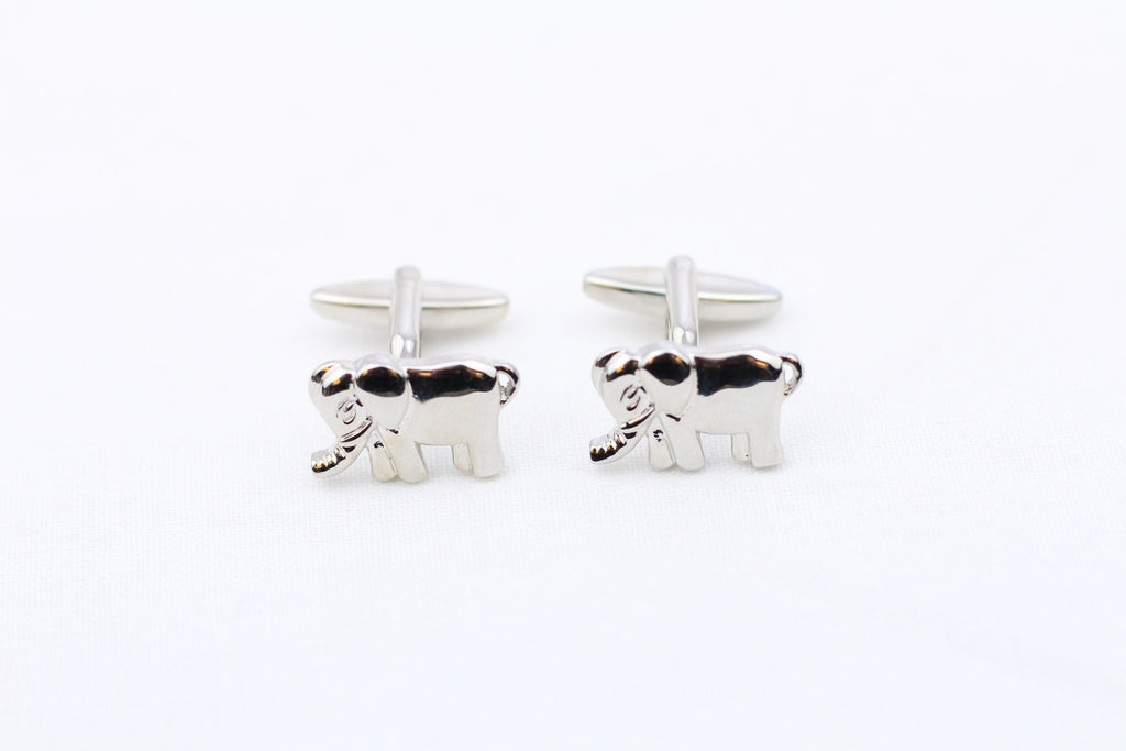 Elephant-Shaped Cuff Links