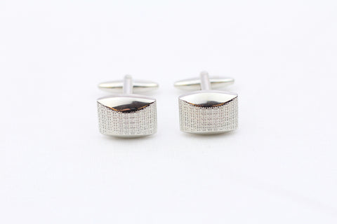 Silver|Metal Cuff Links