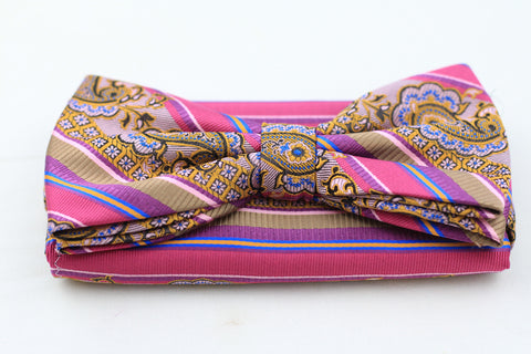 Pink Bow-Tie plus Pocket Square