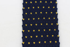 Blue Knit-Tie with Hearts