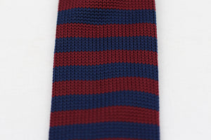 Bordeaux|Blue Knit-Tie