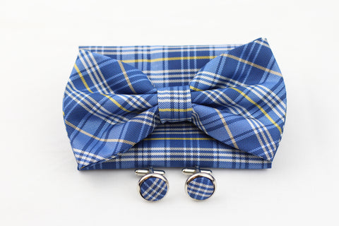 3 Piece|Bow-Tie, Pocket Square, Cuff Links