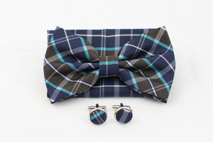 3 Piece|Bow Tie, Pocket Square, Cuff Links
