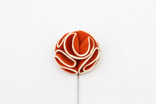 Orange-White Flower Pin