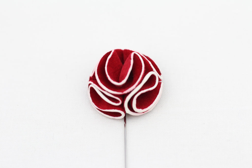 Red-White Flower Pin