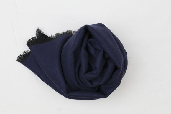 Reversible Scarf Dark Blue|Black