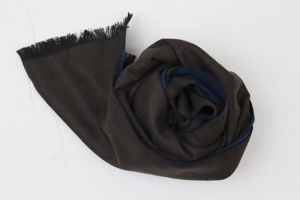Reversible Scarf Petrol|Brown