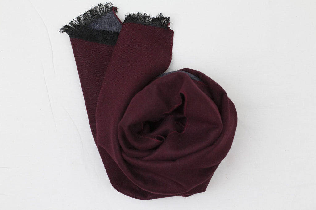 Reversible Scarf Burgundy|Grey