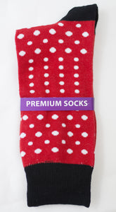 Red Polka Dott Socks