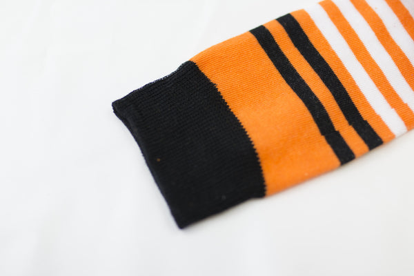 Orange Striped Socks