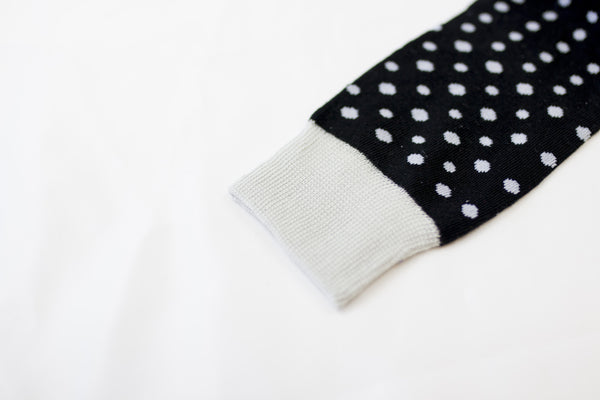 Black Dotted Socks