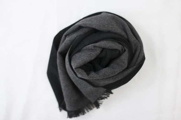 Reversible Scarf Black|Grey