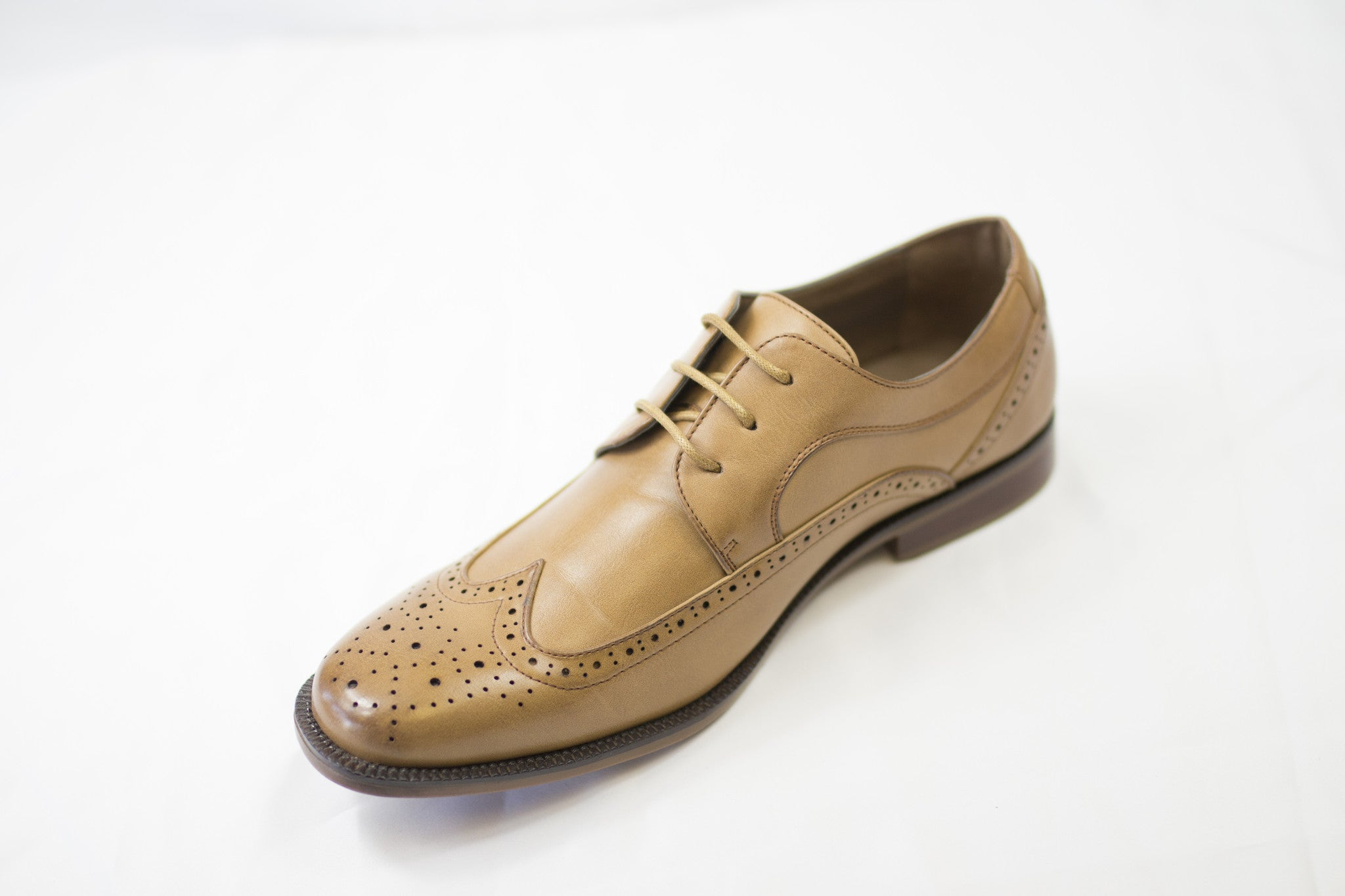 Brown Structured Dress Shoes
